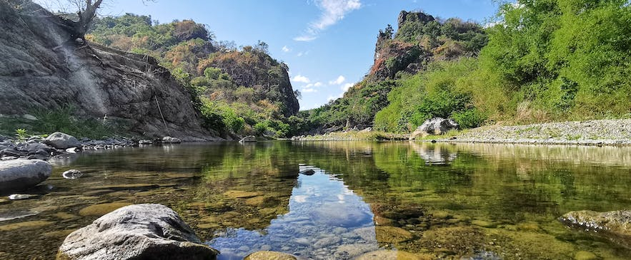 Clear river water of Catanduanes
