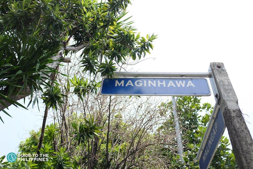 Maginhawa Street sign