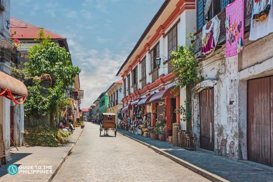 The famous Calle Crisologo in Vigan City, Ilocos Sur