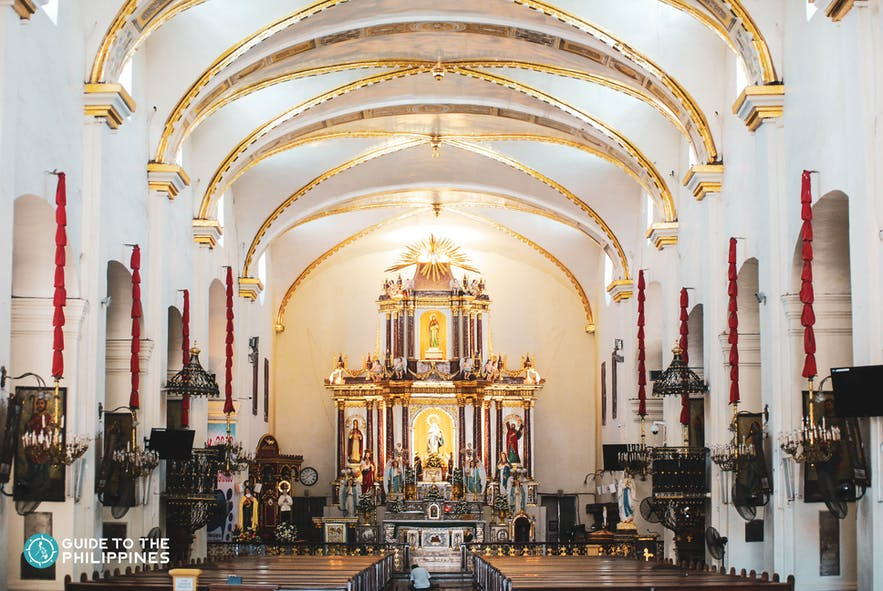 Inside the Metropolitan Cathedral of the Conversion of St. Paul in Vigan City, Ilocos Sur