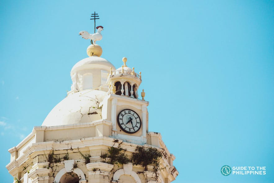 Clock at the Vigan Cathedral in Ilocos Sur