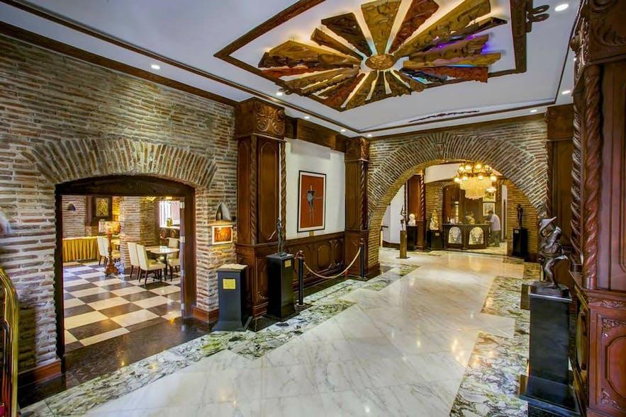 Lobby of Hotel Luna in Vigan, Ilocos Sur
