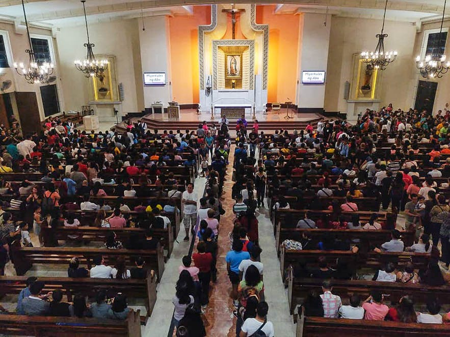 Ash Wednesday at the Guadalupe Church in Makati