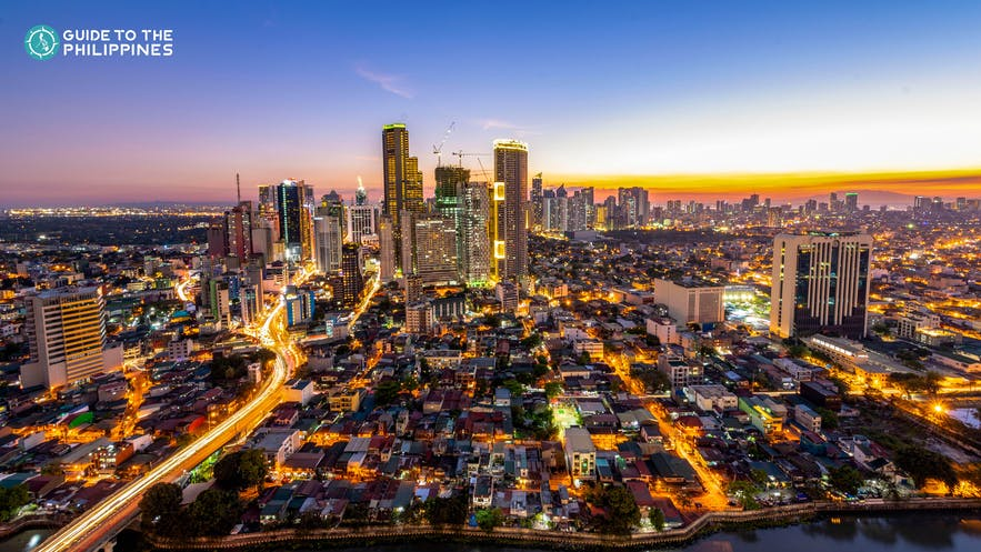 Aerial cityscape of Makati, Philippines