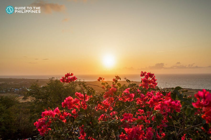 Sunset view at Cape Boreador Lighthouse in Ilocos Norte