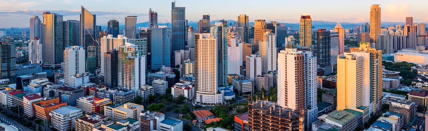 Skyline of Makati, the financial hub of the Philippines