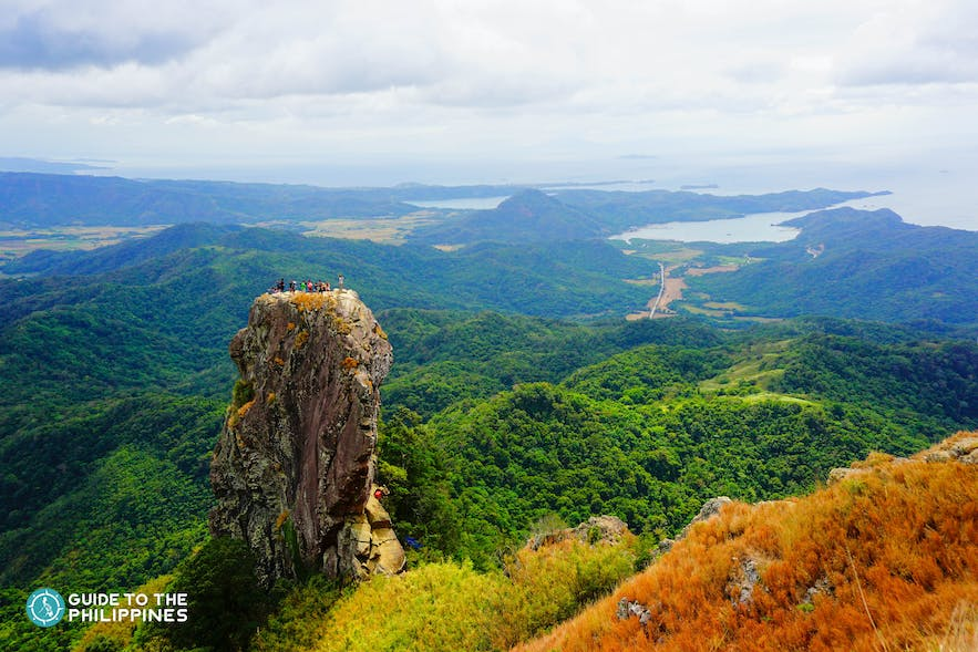 Stunning view from Mt. Pico de Loro in Batangas, Philippines