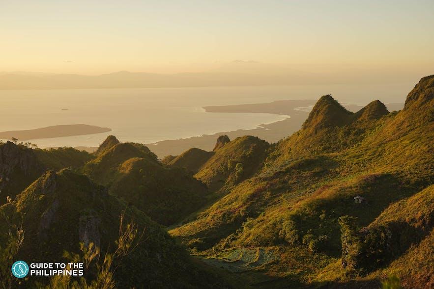Sunset at Osmeña Peak in Dalaguete, Cebu
