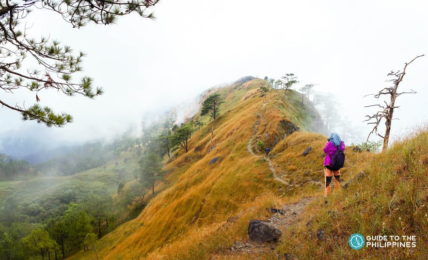 Hiker at Mt. Ulap in Benguet, Philippines
