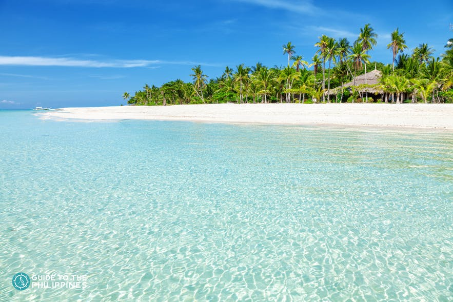 Clear turquoise waters at Bantayan Island, Cebu