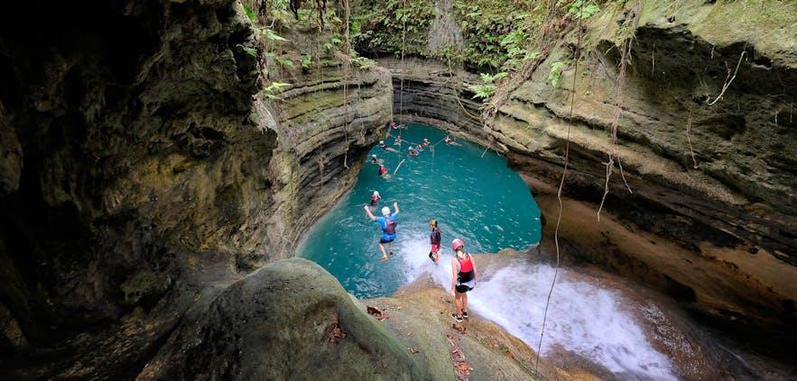 Canyoneering in Badian, Cebu