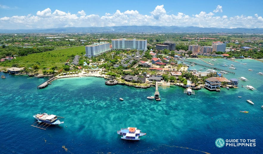 Aerial view of Mactan Island in Cebu, Philippines