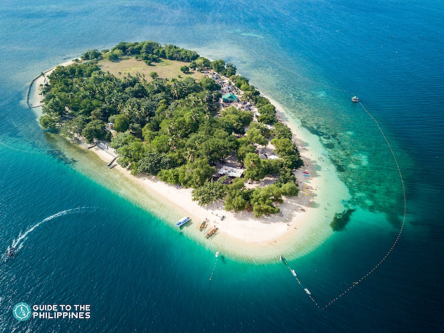 Amazing top view of Potipot Island