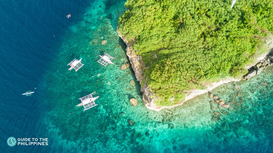 Spectacular top view of Pescador Island