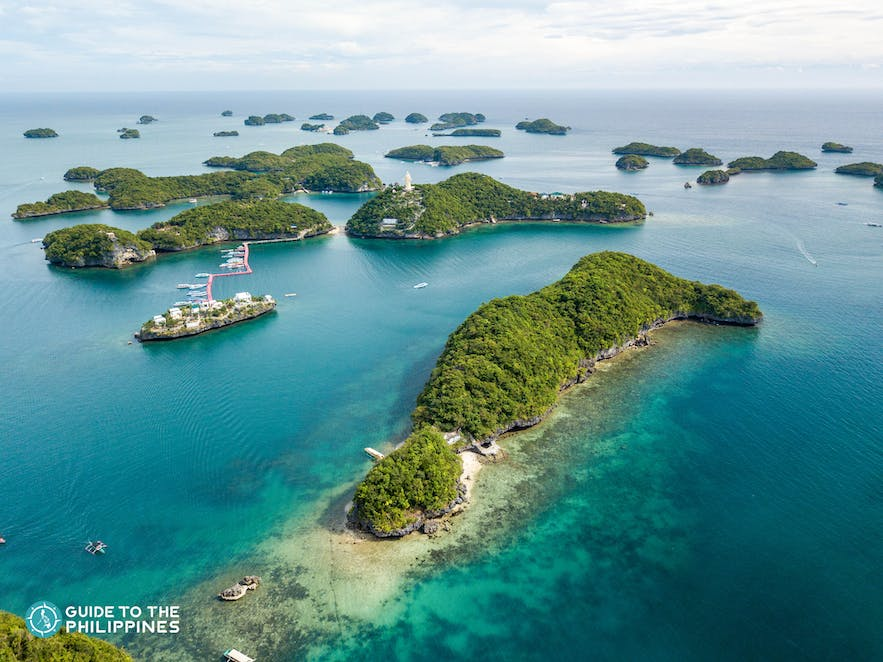 Top view of Hundred Islands in Pangasinan, Philippines