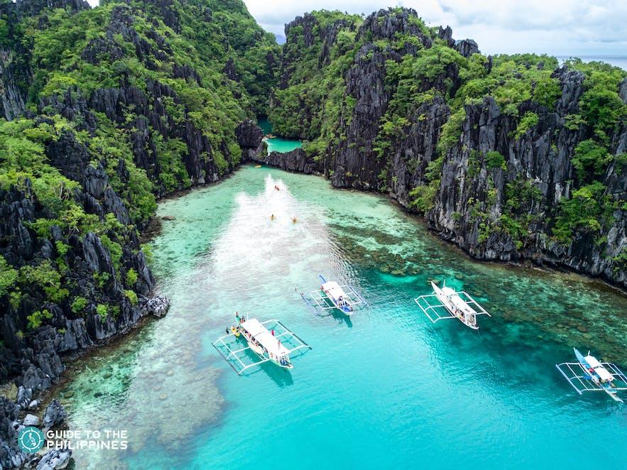 Island hopping at Big and Small Lagoons in El Nido, Palawan