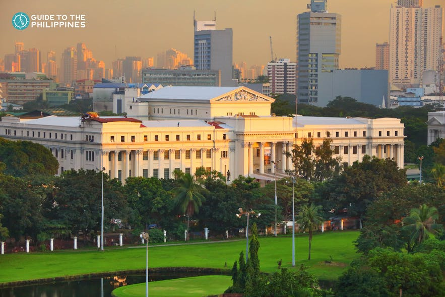 Aerial view of the National Museum of the Philippines in Manila