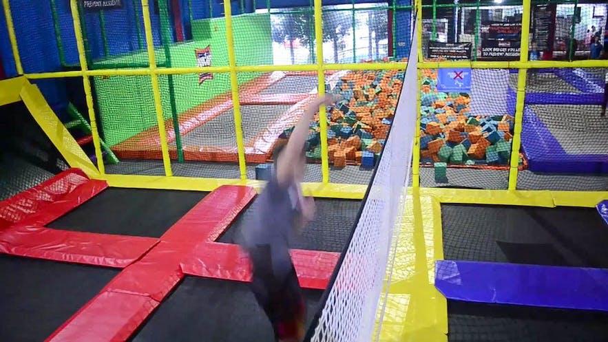 Adult play space at Jumpyard