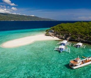 Cebu Sumilon Island & Kawasan Falls Canyoneering Private Day Tour   With Lunch & Transfers