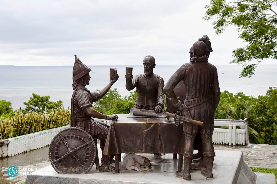 Sandugo Shrine, also known as the Blood Compact Monument in Tagbilaran, Bohol