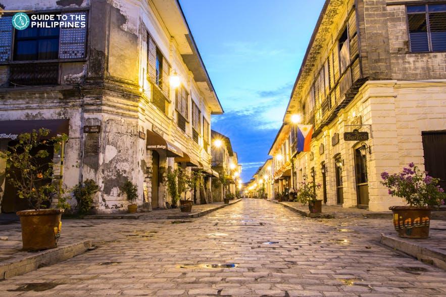 The famous Calle Crisologo in Vigan, Ilocos Sur
