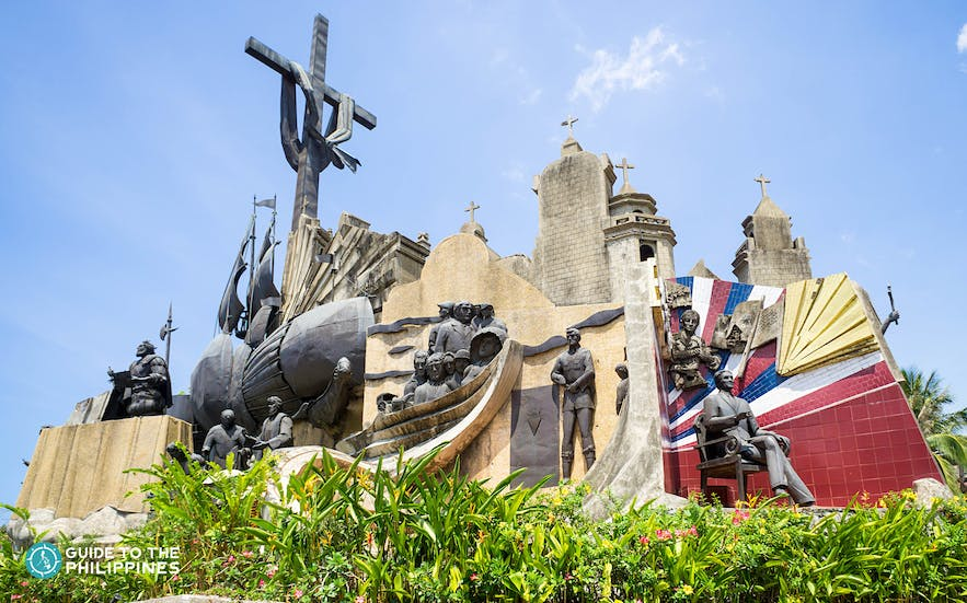 Heritage of Cebu Monument depicts significant moments in Cebu's history