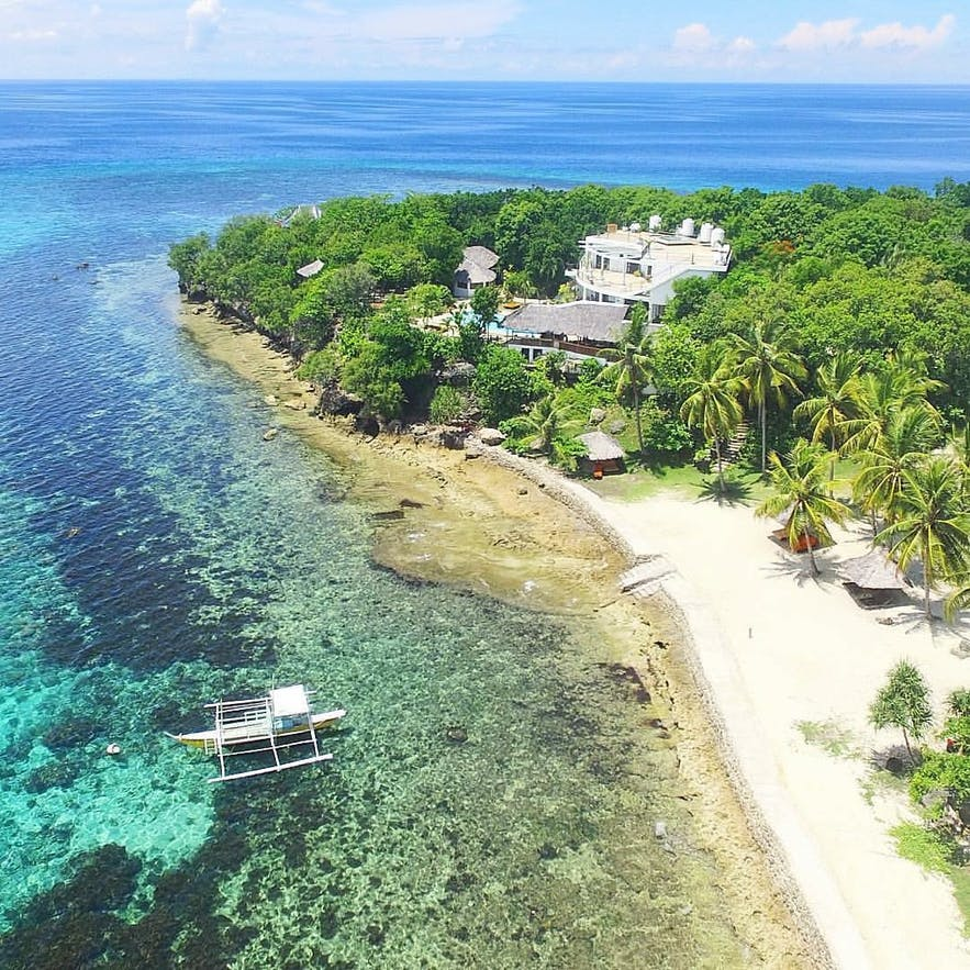 Aerial view of Granada Beach House in Oslob, Cebu