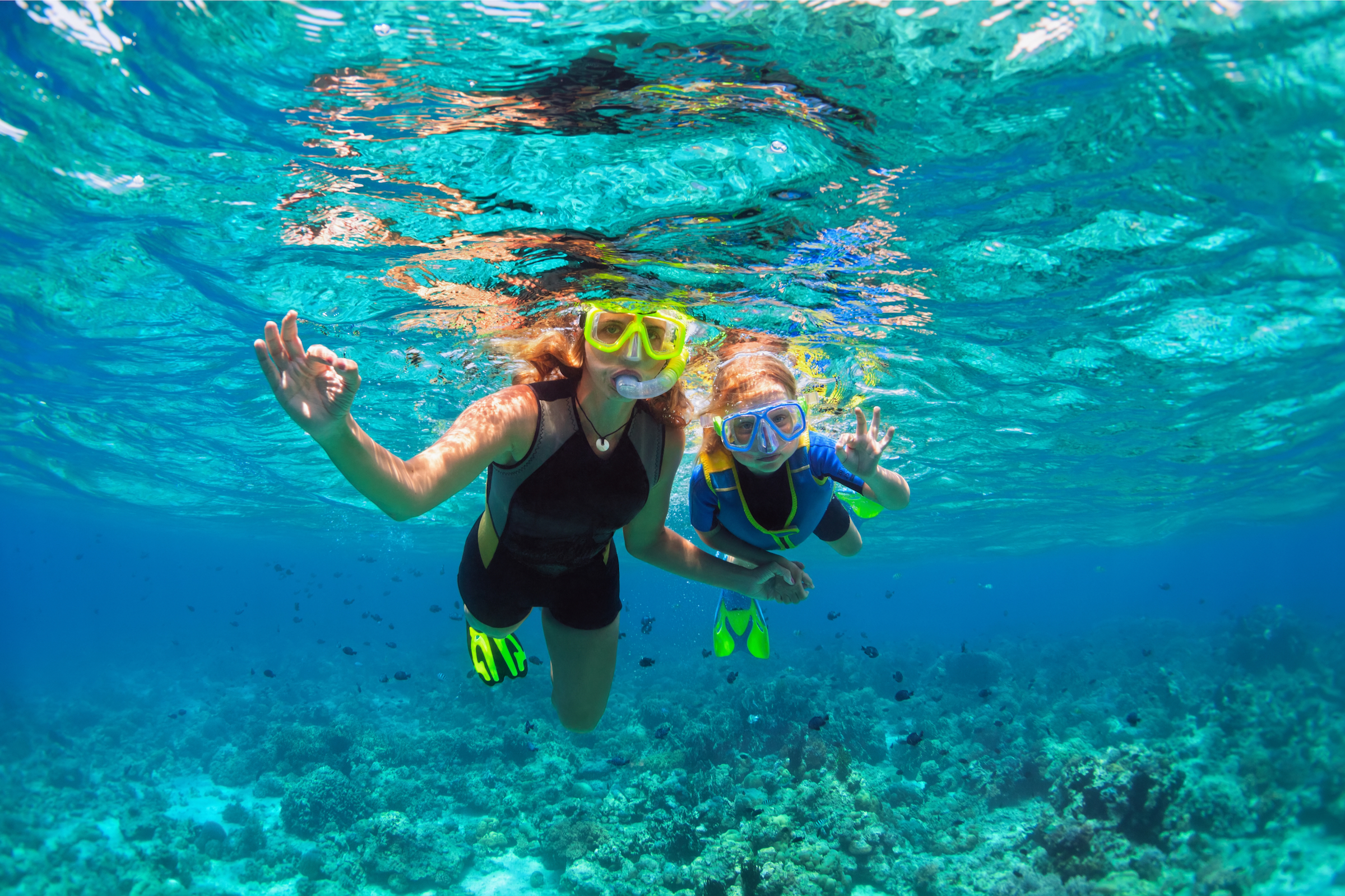Two children underwater in Boracay