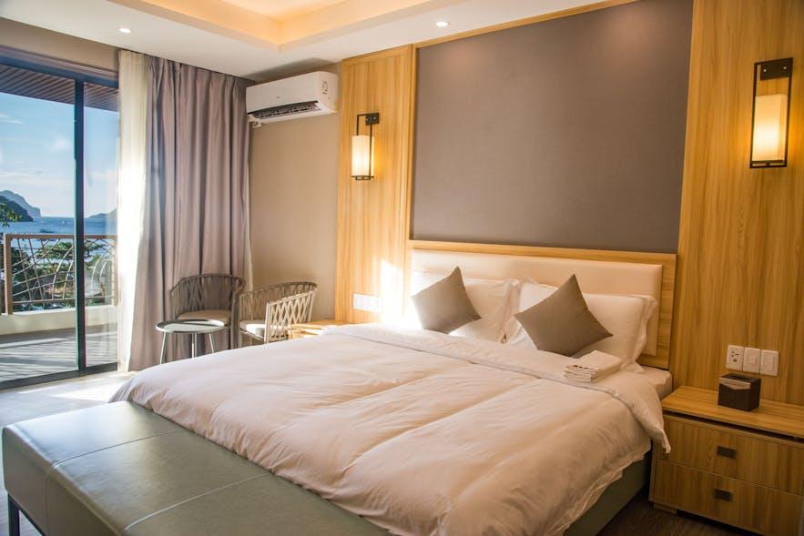 Premium Sea View Deluxe Room at El Nido Garden Resort