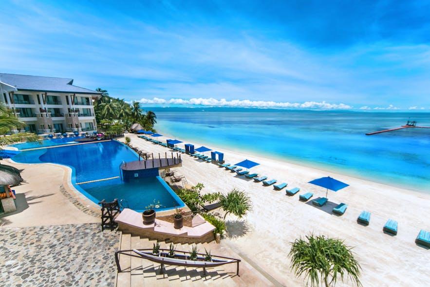 The Bellevue Resort's poolside view