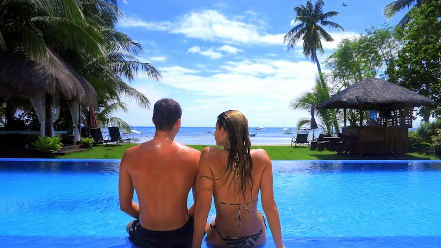 Bohol South Beach Hotel's infinity pool