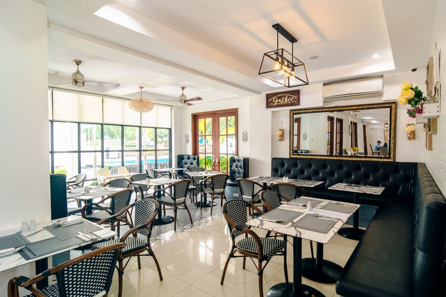 Hotel restaurant in The Mansion, Pampanga
