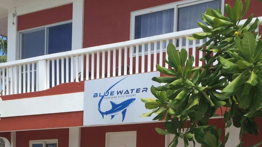 Facade of the Malapascua Blue Water Beach Resort