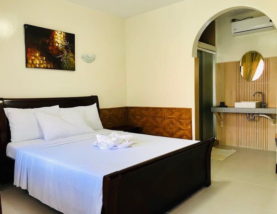 Bedroom in Coucou Bar hotel and restaurant in Bantayan Island Cebu