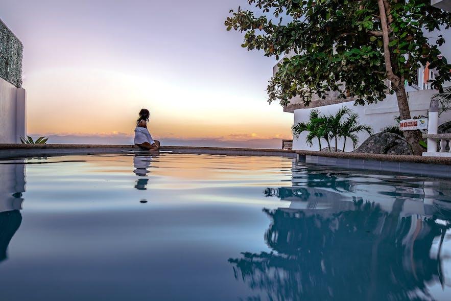 Sea view at Pescadores Seaview Suites Resort in Moalboal, Cebu