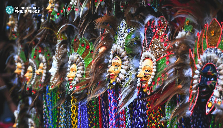 Masks for Sinulog Festival in Cebu, Philippines