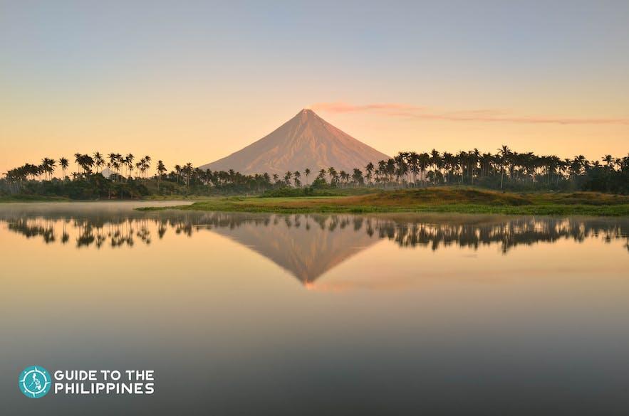 Stunning view of Mayon Volcano in Legazpi, Albay