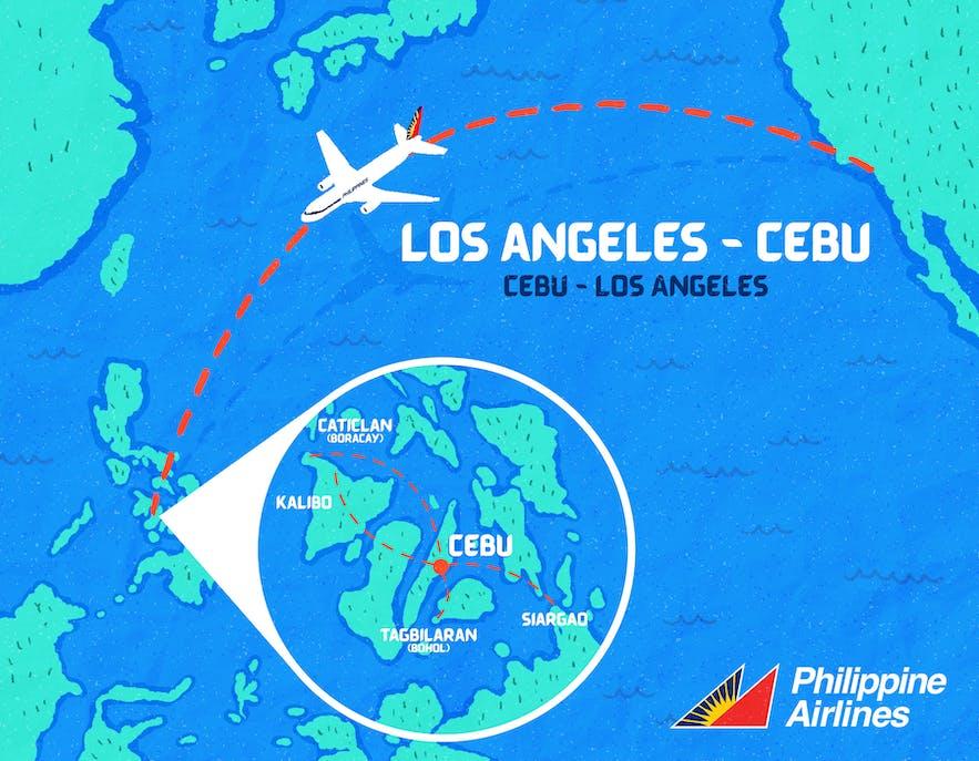 Cebu flight route map