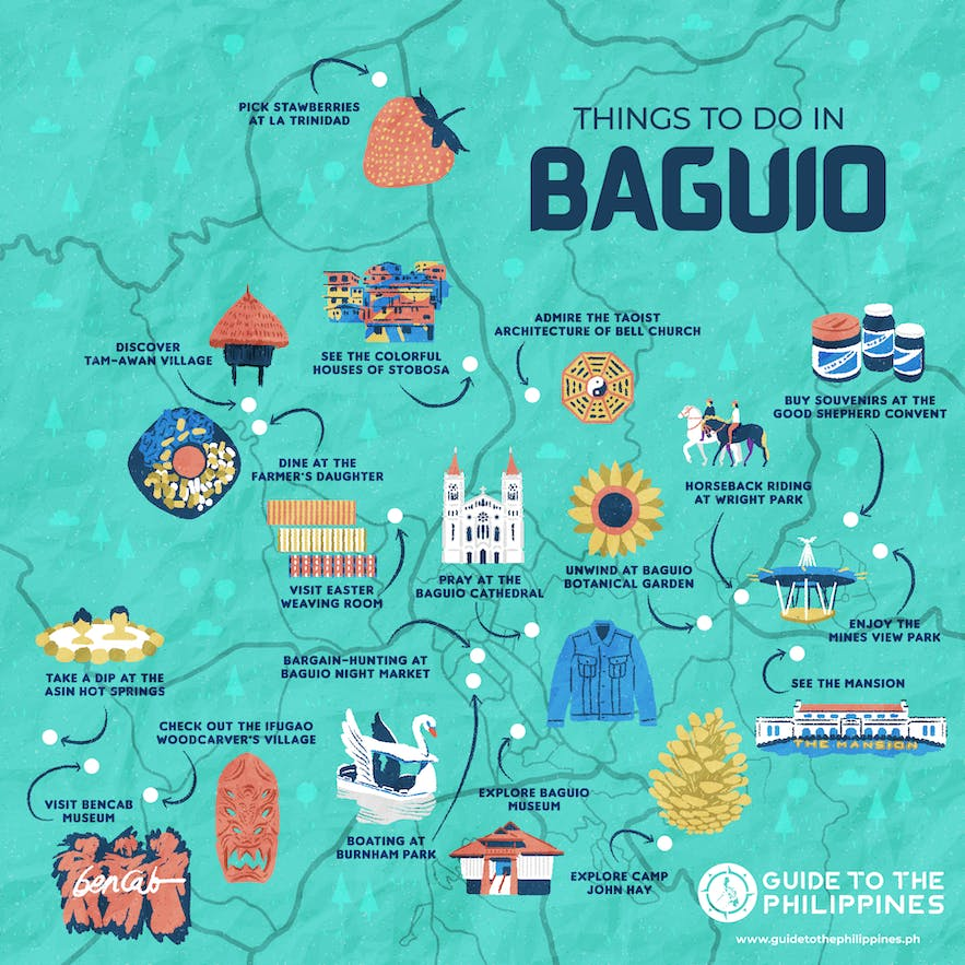 Guide to the philippines maps baguio things to do tourist spots
