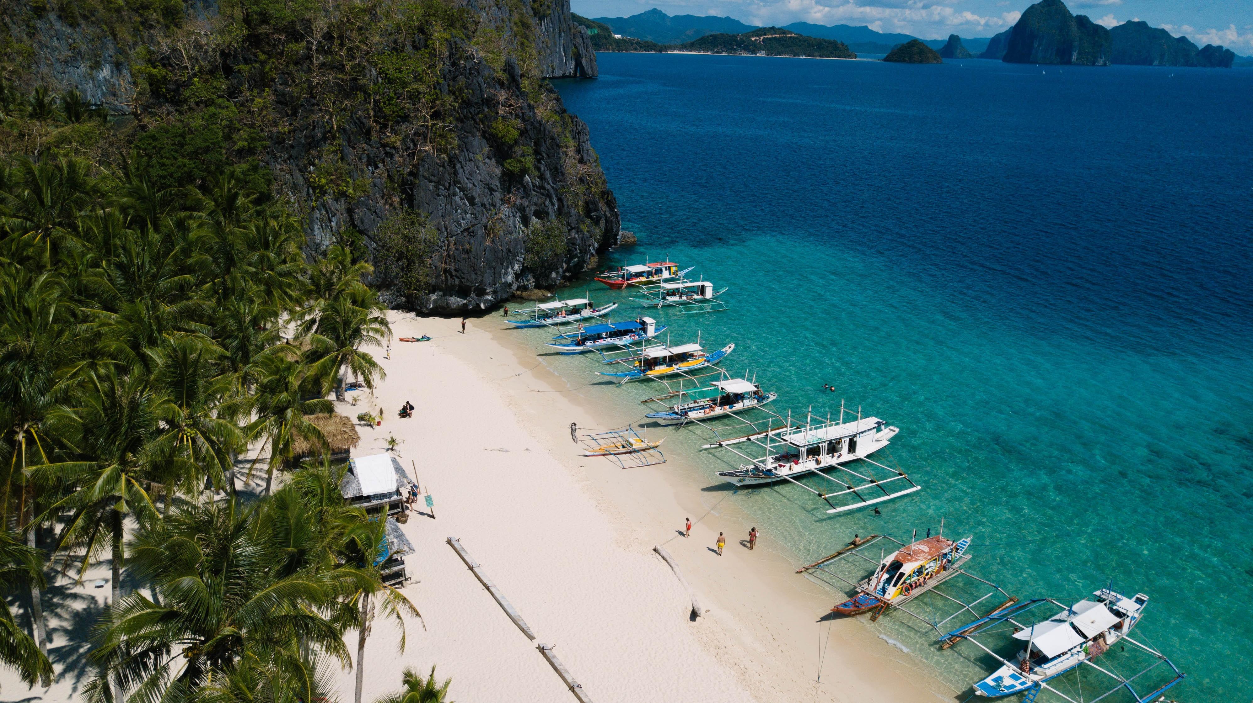 View of boats for Coron Palawan Island Hopping Tour A