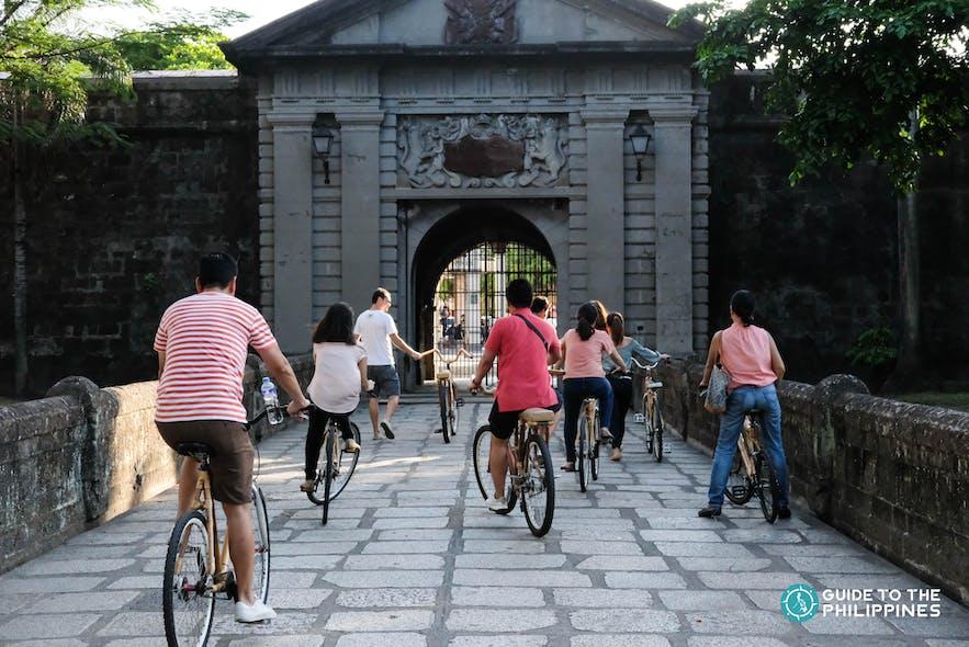 Local travelers in Intramuros, Manila, Philippines
