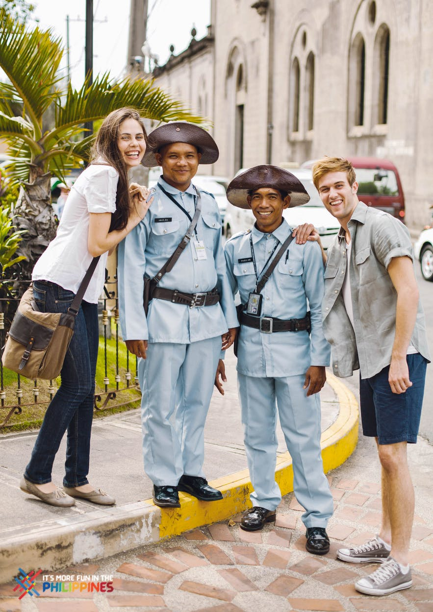 Foreign travelers in Intramuros, Manila, Philippines