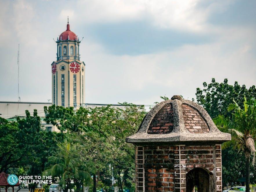 Iconic clock tower of Manila City Hall