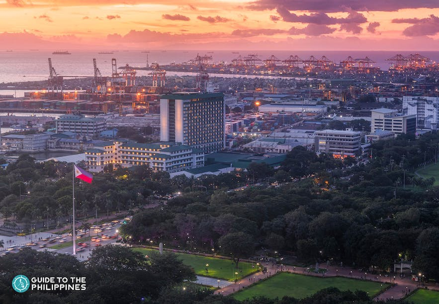 manila-port-aerial-view-at-dusk