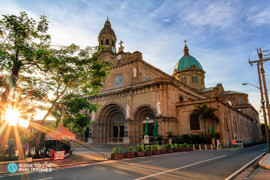 Sunset at Manila Cathedral in Intramuros