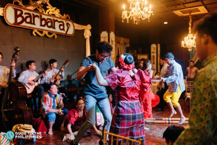 Cultural show at Barbara's Heritage Restaurant in Intramuros