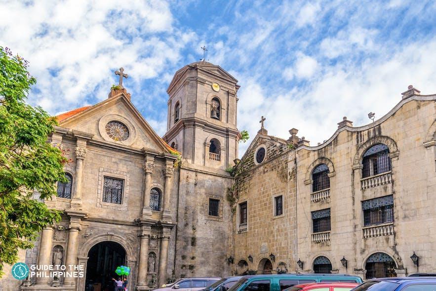 Facade of San Agustin Church in Intramuros, Manila