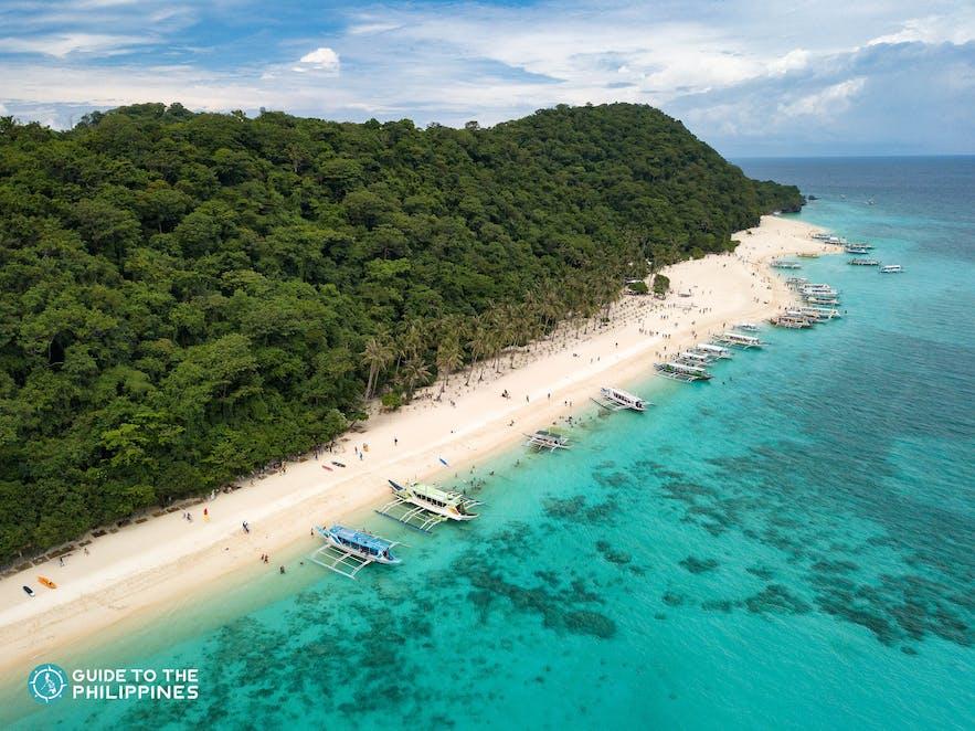 Island hopping at Puka Beach in Boracay, Aklan