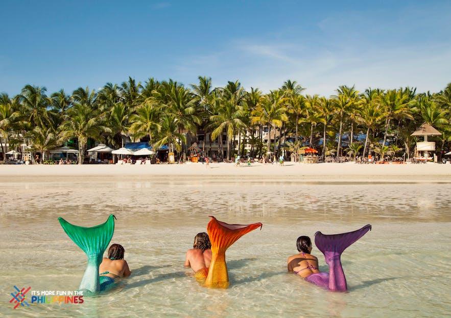 Lounge at the White Beach, Boracay like a mermaid