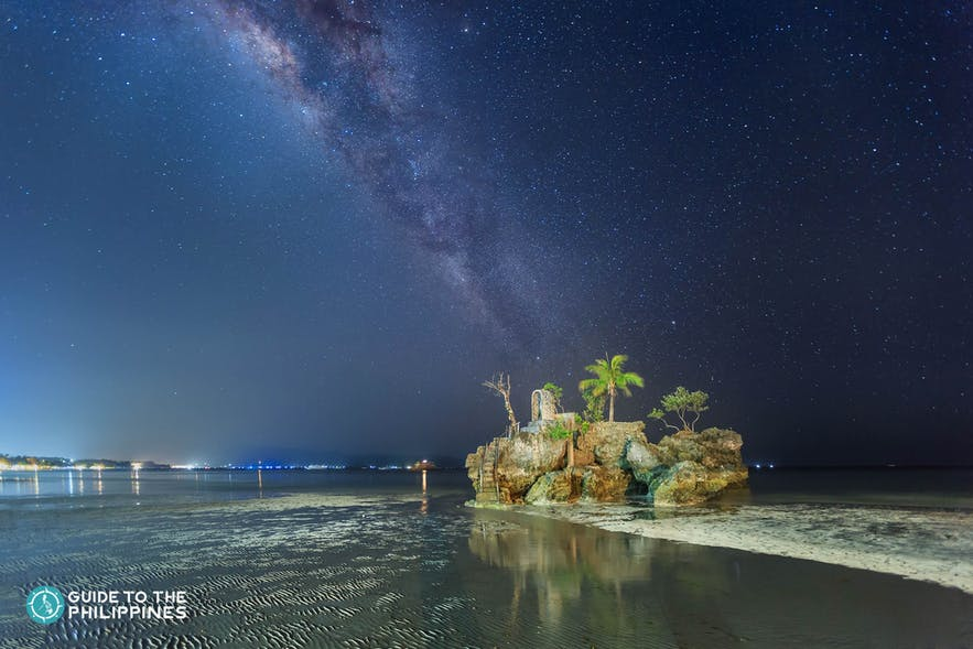 Starry night at Willy's Rock in Boracay, Aklan
